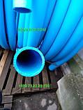 Харчова труба поліетиленова 110 мм 10 атм (синя), фото 3
