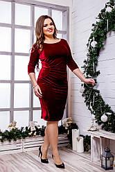 Женское бархатное платье (46-60) 8221