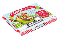 Набор на 12 молочных шоколадок «Новогоднее оливье»