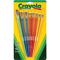 Кисті для малювання в наборі 8 штук різних рамеров, Crayola (Крайола)