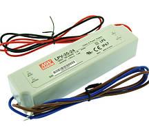 Блок живлення 24вольт LPV-35-24 MEAN WELL 35вт герметичний IP67 3964