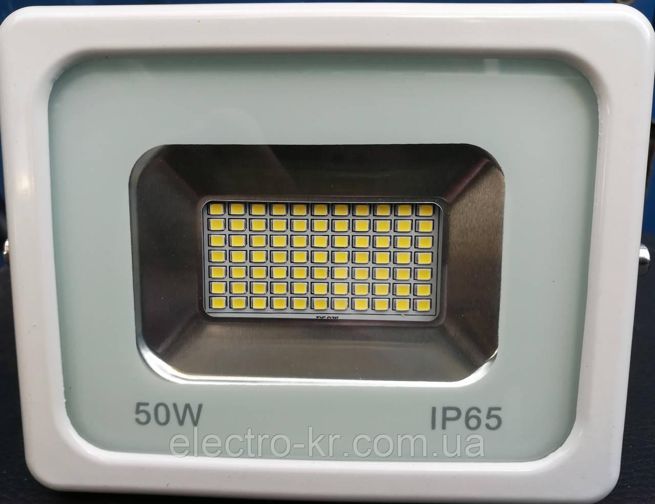 Прожектор світлодіодний RIGHT HAUSEN LED 50W 4000 Lm 6500K IP65 білий