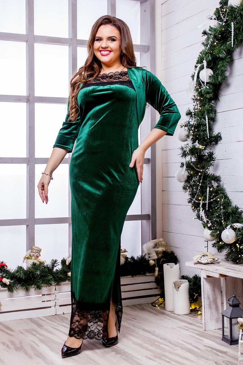 Женское бархатное платье (46-60) 8222