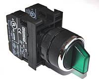 Переключатель 2-0-1 с фиксацией в 1 положении (2НО) зелёный B101SL31Y