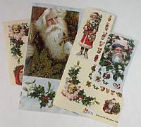 Фрагменты декупажной карты «Дед Мороз»_2