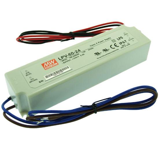 Блок живлення 24вольт LPV-60-24 60вт герметичний IP67 MEAN WELL 3615