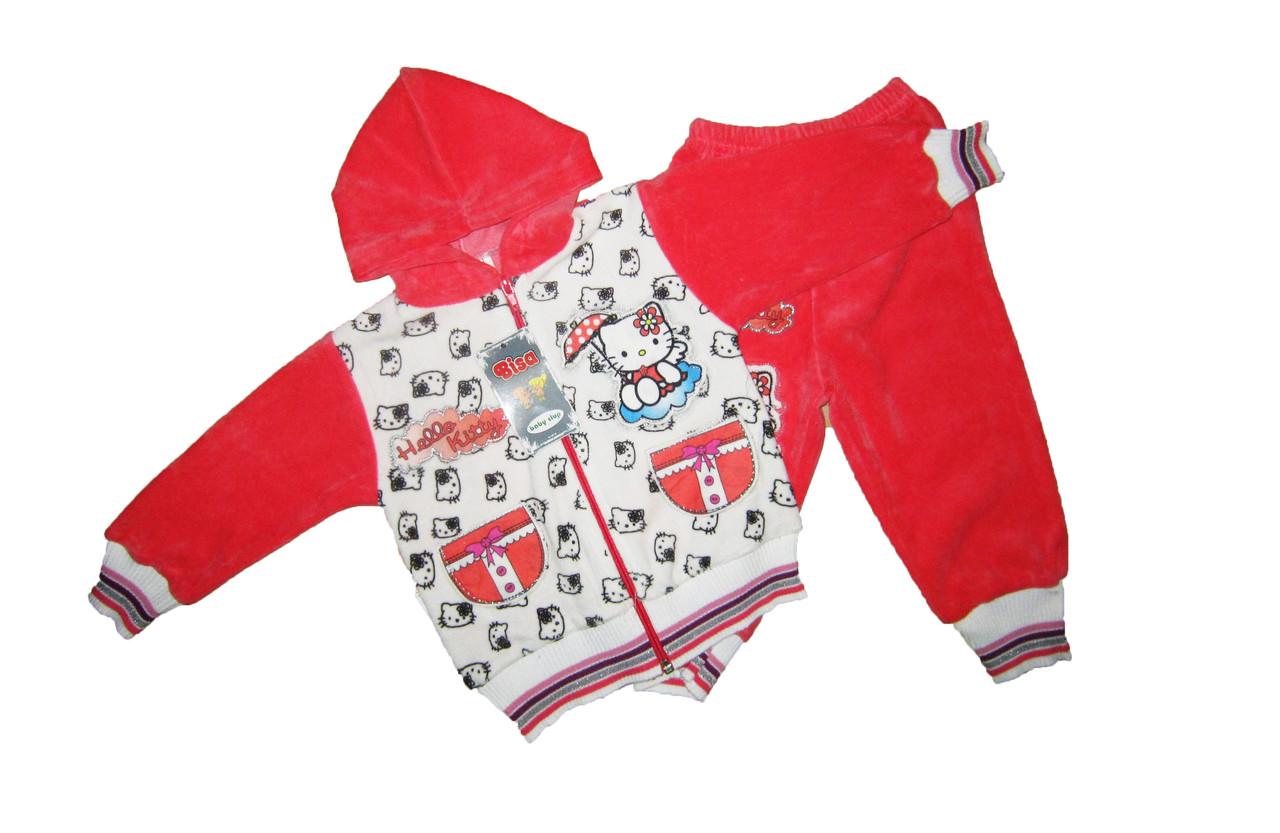 Костюм детский вилюровый для девочки. Фирма - BiSa 153