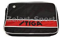 Чехол на ракетку для настольного тенниса STIGA SGA-884803 STYLE (полиэстер, черно-крас, р-р 30х21см)