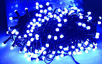 "Гирлянда уличная ""WP ICE"" LED 200 синяя соединяющаяся 10м (ч/п)"