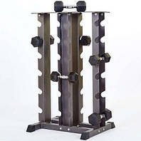 Подставка (стойка) четырехсторонняя для гантелей , фото 1