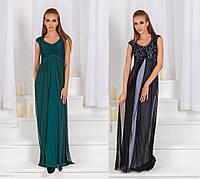 Женское вечернее макси платье без рукавов