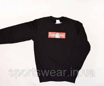 """Свитшот Supreme + Ripndip черный с логотипом,унисекс (мужской,женский,детский) """""""" В стиле RipNDip """""""""""