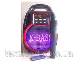Портативная колонка с радиомикрофоном Golon 820BT (USB/Bluetooth/FM/аккумулятор)