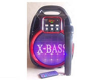 Колонка с радиомикрофоном Golon 820BT (USB/Bluetooth/FM/аккумулятор)