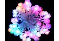 Гирлянда Снежинки 40 led цветная 4,5 метра