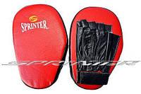 """Лапа боксёрская """"Sprinter"""". Прямая, кожа. Пакистан. 548-552"""