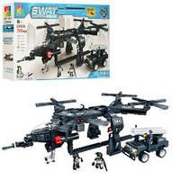 Конструктор C0536A  спецназ, вертолет, джип, фигурки, 784дет, в кор-ке, 61-36-9,5см