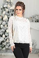 Гипюровая Блуза в белом цвете, фото 1
