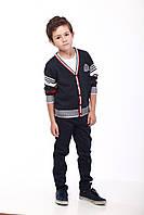 Жакет для мальчика черный в полоску, фото 1