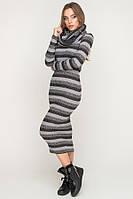Теплое платье с люрексом со снимающимся хомутом