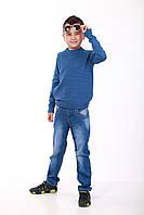 Свитер для мальчика цвета джинс, фото 1