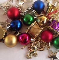 Набор новогодних украшений (пластик)