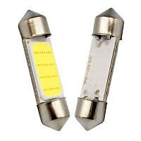 LED COB C5W, C10W, 36мм, Лампа в автомобиль, Белая