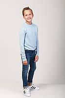 Свитер для мальчика светло-голубой