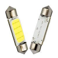 LED COB C5W, C10W, 39мм, Лампа в автомобиль, Белая