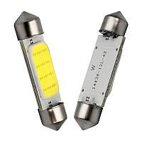 LED COB C5W, C10W, 41мм, Лампа в автомобиль, Белая