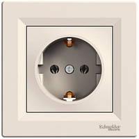 Розетка Schneider-Electric Asfora с заземлением кремовый  EPH2900123