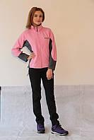 Женская спортивная толстовка Jack Wolfskin 280 розово-серая код 2038А