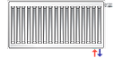 Стальной (панельный) радиатор PURMO Ventil Compact т11 500x900 нижнее подключение, фото 5