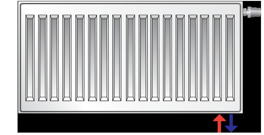 Стальной (панельный) радиатор PURMO Ventil Compact т22 500x1800 нижнее подключение