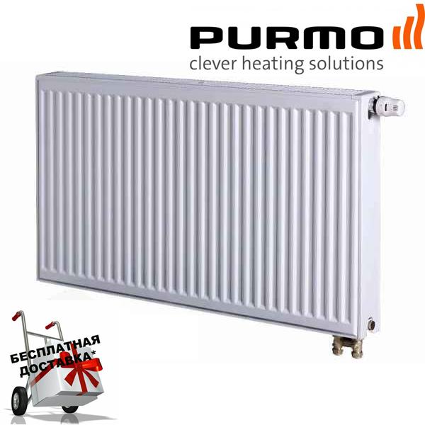 Сталевий (панельний) радіатор PURMO Ventil Compact т22 500x1100 нижнє підключення