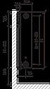 Стальной (панельный) радиатор PURMO Ventil Compact т22 600x1400 нижнее подключение, фото 2