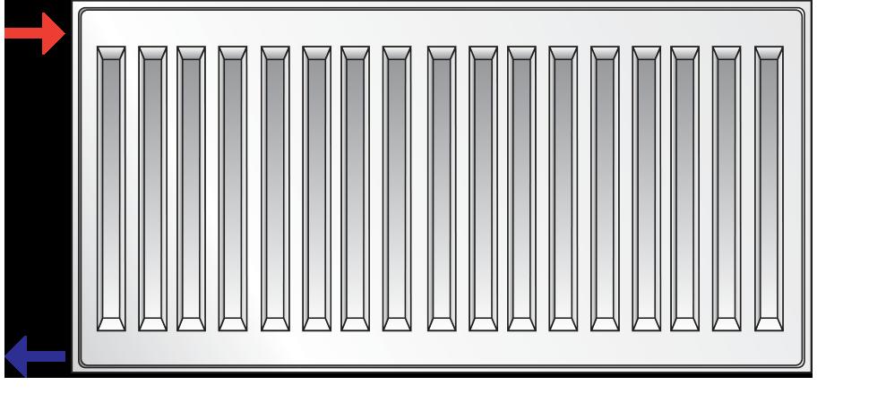 Стальной (панельный) радиатор PURMO Compact т22 300x1400 боковое подключение