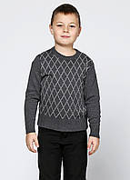 Джемпер для мальчика ромб серый