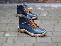 Мужские зимние ботинки Columbia, натуральная кожа, набивная шерсть, размеры 40,41,42