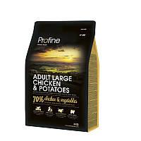 Сухой корм 3 кг для собак крупных пород Профайн / Adult Large Breed Chicken & Potatoes Profine