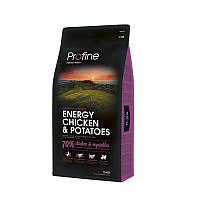 Сухой корм 15 кг для активных собак Профайн / Energy Chicken & Potatoes Profine