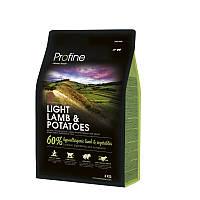 Сухой корм 3 кг для оптимизации веса Профайн / Light Lamb & Potatoes Profine