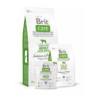 Сухой корм 1 кг для взрослых собак крупных пород Брит Кеа / Grain-free Adult Large Breed Salmon & Potato Brit Care