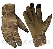 Зимние сенсорные перчатки Softshell + Thinsulate Multicam. НОВЫЕ. Mil-Tec, Германия.