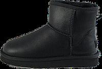 Женские угги UGG Australia W Classic II Mini Black (натуральная кожа, натуральный овчина)