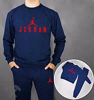 Спортивный костюм Jordan, синий цвет, красный принт, к3758