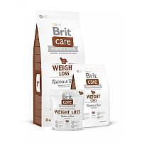 Сухой корм 3 кг для собак с избыточным весом Брит Кеа / Weight Loss Rabbit & Rice Brit Care