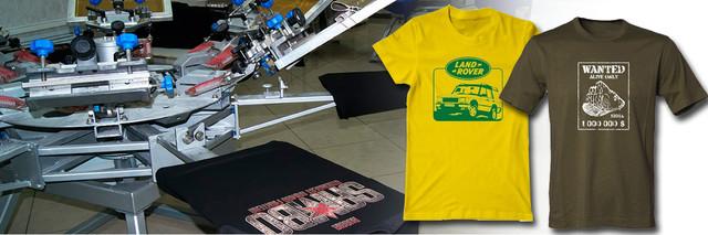 шелкография печать на футболках, футболки с печатью шелкотрафаретом