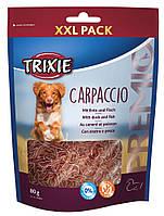 Trixie TX-31804 PREMIO Carpaccio 80г - лакомство из мяса утки и рыбы для собак