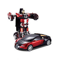 Машина-Трансформер AUTOBOTS Bugatti с пультом управления !!!